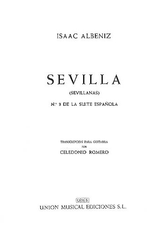 Product Cover for Albeniz Sevilla Sevillanas No.3 De La Suite Espanola (romero) Gtr