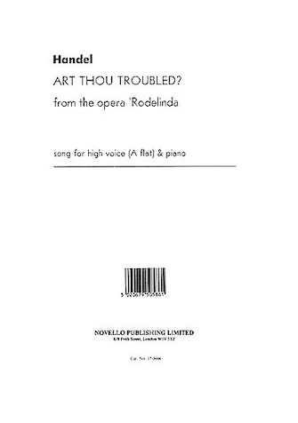 Product Cover for Handel: Art Thou Troubled (High Voice)