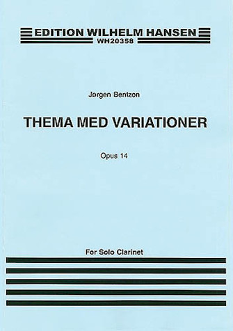Product Cover for Jorgen Bentzon: Theme And Variations For Solo Clarinet Op.14