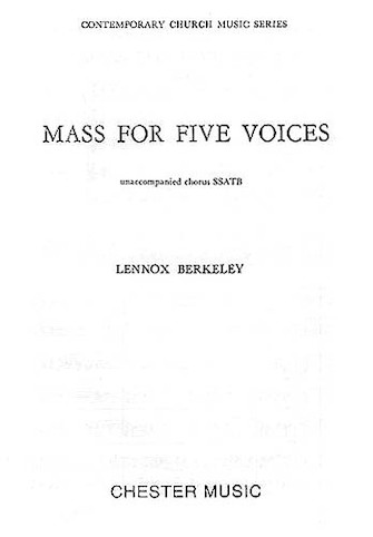 Product Cover for Mass for Five Voices