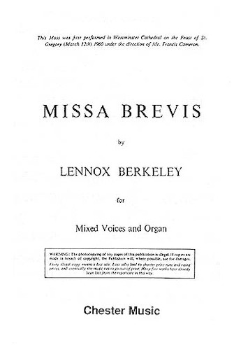 Product Cover for Missa Brevis, Op. 57 (Original Latin Version)