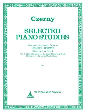 Product Cover for Selected Piano Studies – Volume 1