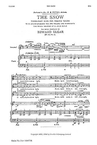 Product Cover for The Snow: Op. 26, No.1