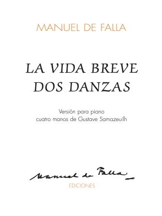 Product Cover for La Vida Breve Dos Danzas