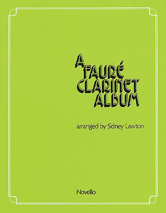 Product Cover for A Faure Clarinet Album
