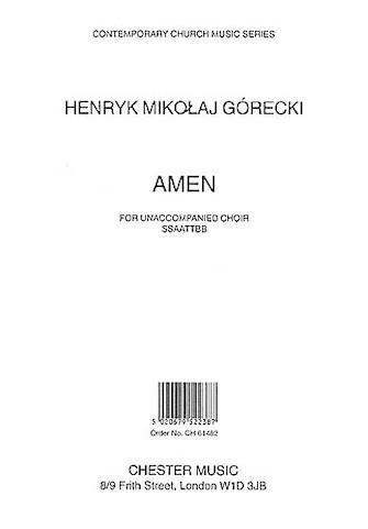 Amen : SSAATTBB : Henryk Gorecki : Henryk Gorecki : Songbook : 14012995 : 884088430160