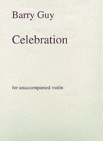 Product Cover for Barry Guy: Celebration For Unaccompanied Violin