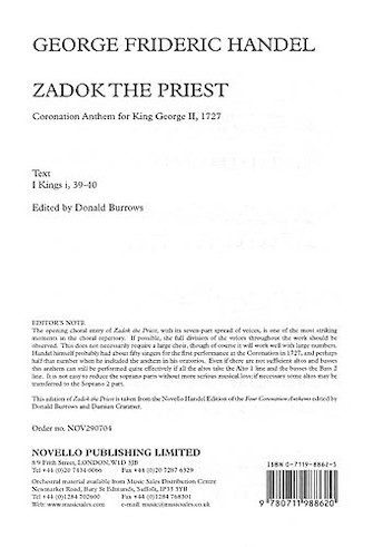 Product Cover for Coronation Anthem No.1 'Zadok The Priest'