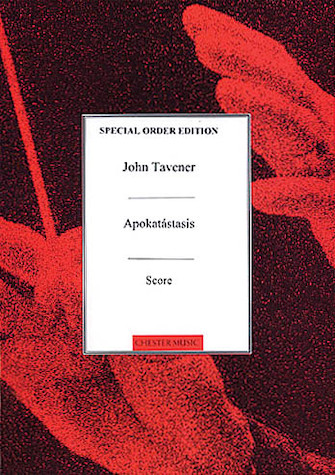 Product Cover for John Tavener: Apokatastasis Score