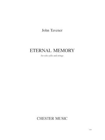 Product Cover for John Tavener: Eternal Memory (Score)