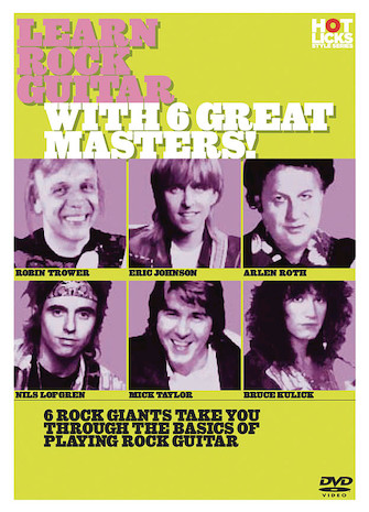 Product Cover for Learn Rock Guitar with 6 Great Masters!
