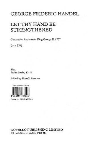 Product Cover for G.F. Handel: Let Thy Hand Be Strengthened