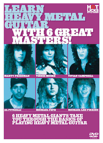 Product Cover for Learn Heavy Metal Guitar with 6 Great Masters!