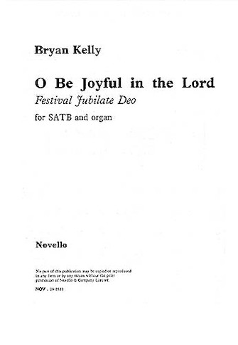 Product Cover for O Be Joyful in the Lord