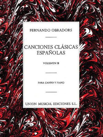 Product Cover for Canciones Clasicas Espanolas – Volumen III