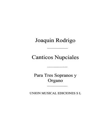 Product Cover for Canticos Nupciales