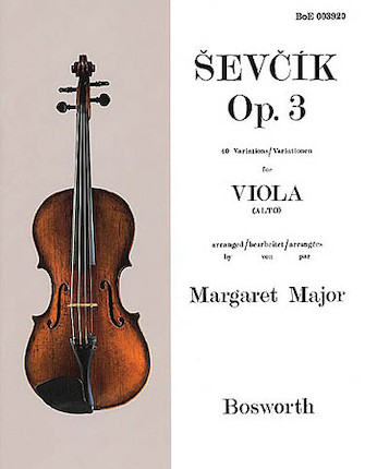 Product Cover for Sevcik for Viola – Opus 3