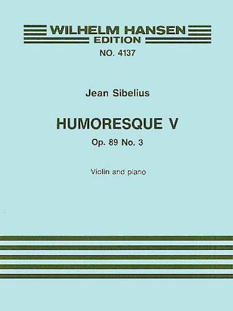 Product Cover for Jean Sibelius: Humoresque V Op.89 No.3 (Violin/Piano)