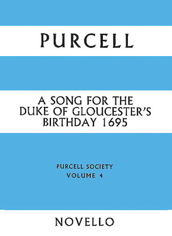 Product Cover for Song For The Duke Of Gloucester's Birthday 1695