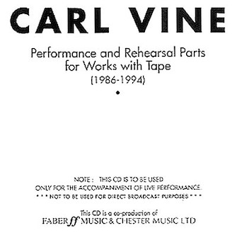 Product Cover for Performance and Rehearsal Parts for Works with Tape (1986-1994)