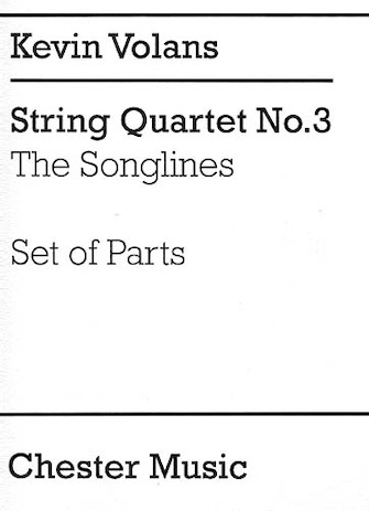 Product Cover for Kevin Volans: String Quartet No.3 'The Songlines' (Parts)