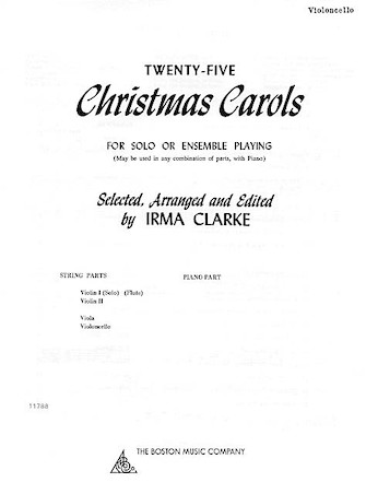 Product Cover for Twenty-Five Christmas Carols – Cello