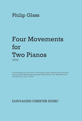 Product Cover for Glass – 4 Movements for Two Pianos