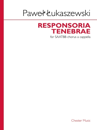Product Cover for Responsoria Tenebrae For Saatbb Chorus A Cappella