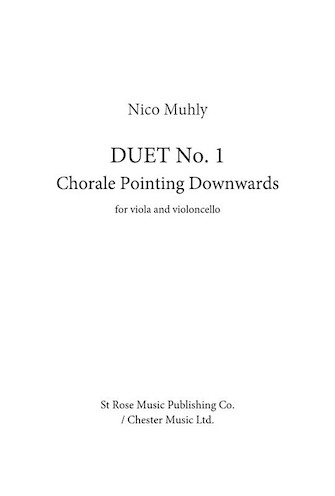 Product Cover for Duet No. 1 – Chorale Pointing Downwards