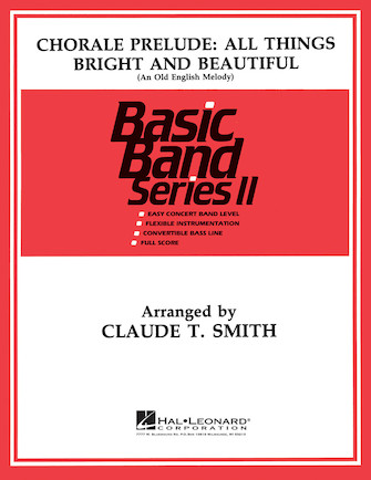 Product Cover for Chorale All Things Bright and Beautiful