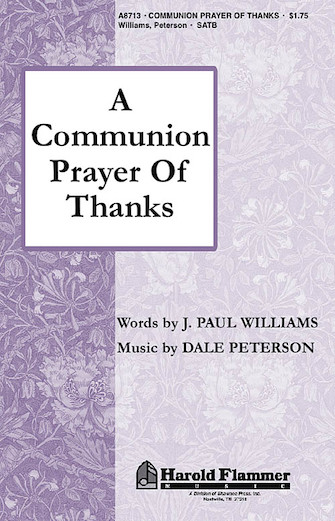 Product Cover for A Communion Prayer of Thanks