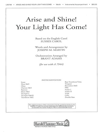 Product Cover for Arise and Shine! Your Light Has Come!