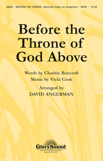 Product Cover for Before the Throne of God Above