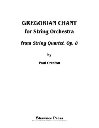 Product Cover for Gregorian Chant for String Orchestra