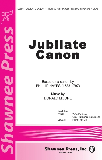 Jubilate Canon : 2-Part : Donald Moore : Phillip Hayes : Sheet Music : 35011773 : 747510178880