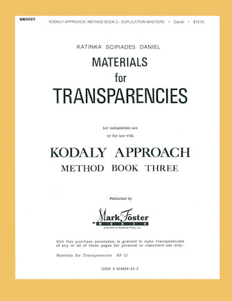 Product Cover for Kodály Approach