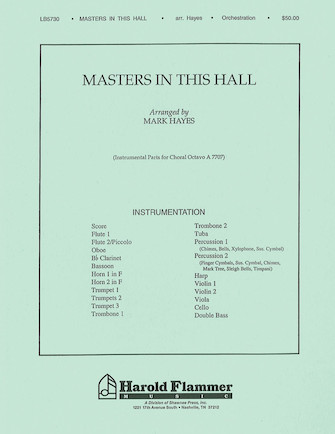 Product Cover for Masters in This Hall