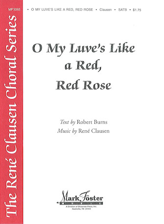 O My Love Is Like A Red, Red Rose : SATB :  :  : Sheet Music : 35015688 : 747510040958