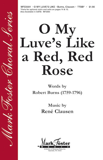 O My Love Is Like A Red, Red Rose : TTBB :  :  : Sheet Music : 35015689 : 747510183136