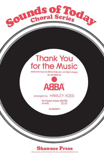 Thank You for the Music : SATB : Hawley Ades : ABBA : Mamma Mia! : Sheet Music : 35022677 : 747510003700