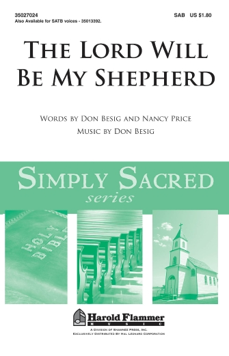 Product Cover for The Lord Will Be My Shepherd