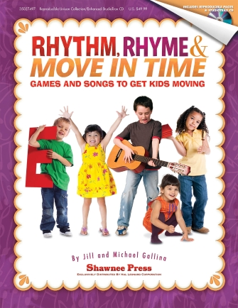 Product Cover for Rhythm, Rhyme & Move in Time – Games and Songs to Get Kids Moving