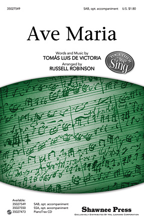 Ave Maria : SAB : Russell Robinson : Sheet Music : 35027549 : 884088523930