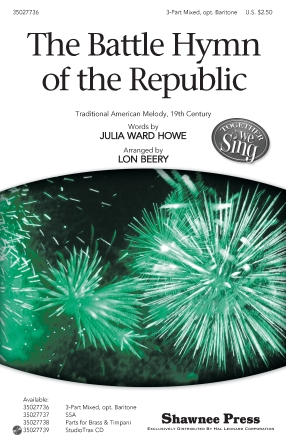 The Battle Hymn of the Republic : 3-Part : Lon Beery : Sheet Music : 35027736 : 884088538712