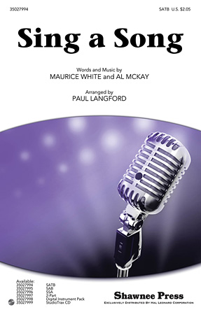 Sing a Song : SATB : Paul Langford : Maurice White : Earth, Wind & Fire : Sheet Music : 35027994 : 884088584108