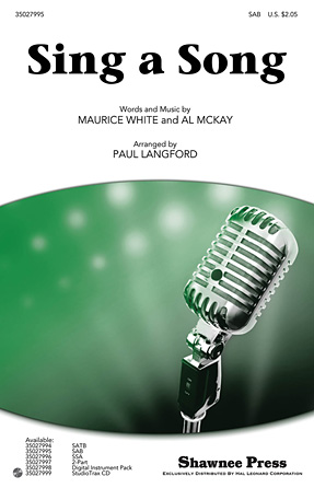 Sing a Song : SAB : Paul Langford : Maurice White : Earth, Wind & Fire : Sheet Music : 35027995 : 884088584115