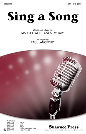 Sing a Song : SSA : Paul Langford : Maurice White : Earth, Wind & Fire : Sheet Music : 35027996 : 884088584122