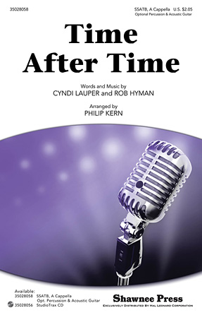 Time After Time : SSATB : Philip Kern : Cyndi Lauper : Cyndi Lauper : Sheet Music : 35028058 : 884088605650