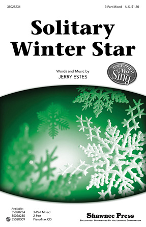 Solitary Winter Star : SAB : Jerry Estes : Jerry Estes : Sheet Music : 35028234 : 884088630188