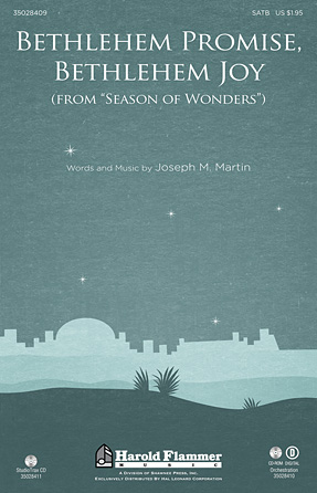 Bethlehem Promise, Bethlehem Joy (from Season of Wonders) : SATB : Joseph Martin : Joseph Martin : Sheet Music : 35028409 : 884088653507
